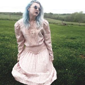 Vintage Pastel Pink Dress